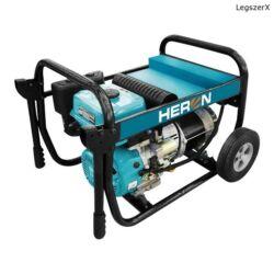 HERON Benzinmotoros áramfejlesztő, 6,8 kVA, 230V hordozható (EGI 68)