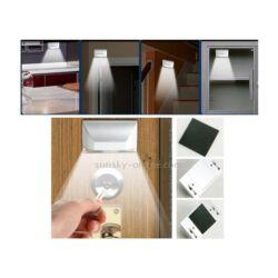 Ajtóra, kulcslyukhoz, falra, lépcsőre szerelhető led lámpa PIR mozgásérzékelővel szenzorral éjszakai jelzőfény
