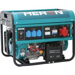 HERON Benzinmotoros áramfejlesztő, max 6000 VA, háromfázisú, elektromos öninditóval (EGM-60 AVR-3E)