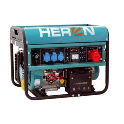 HERON Benzinmotoros áramfejlesztő, max 6800 VA, háromfázisú (EGM-68 AVR-3E), önindítós