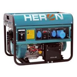 HERON Benzinmotoros áramfejlesztő, max 6800 VA, egyfázisú (EGM-68 AVR-1E), önindítós