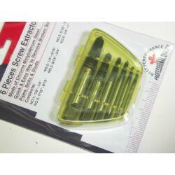 Törött csavar kitekerő készlet, 6 darabos (AT-EX6)