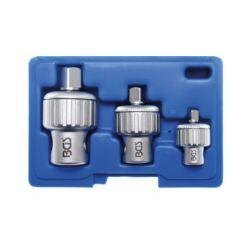 """3 részes racsnis hajtószár adapter készlet 1/4"""", 3/8"""", 1/2"""" dobozban (BGS-2302)"""