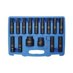 16 részes gépi E-torx, T-torx ,Imbusz kulcs készlet (BGS-5246)