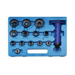 14 darabos Bőrlyukasztó -kiütő készlet 35 mm (BGS-566)