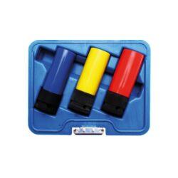 """3 részes gépi védőburkolatos gépi dugókulcs készlet, 1/2"""" műanyag borítással, 17-19-21 mm (BGS-7300)"""