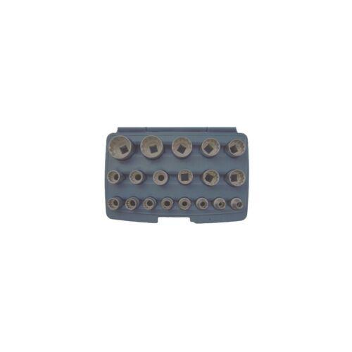"""19 részes Gear-Lock  dugókulcs készlet 1/2"""" metrikus és coll méretek műanyag dobozban (BGS-2152)"""