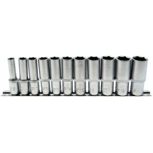 """11 részes hosszított dugókulcs készlet, 3/8"""", 8 -19 mm sínen (BGS-2222)"""