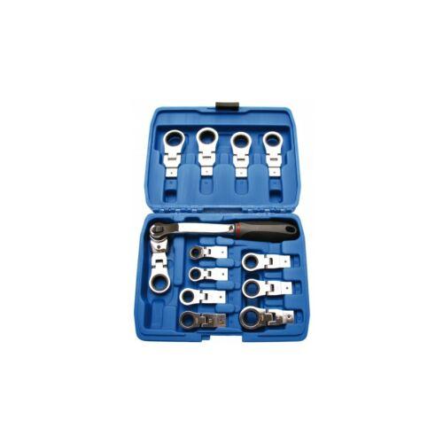 racsnis kulcs készlet, cserélhető és állítható fejekkel műanyag dobozban (BGS-2258)