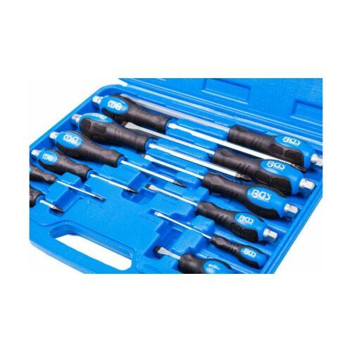 12 részes üthető csavarhúzó készlet műanyag dobozban (BGS-7895)