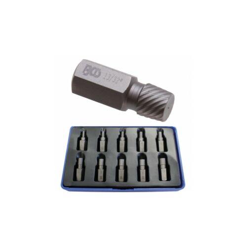 10 darabos törtcsavar kiszedő készlet (BGS-8547)